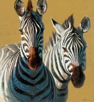 Painting - Two Zebras (BB2295)