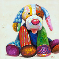 Painting - Colourful Dog Teddy (B2980)