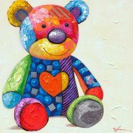 Painting - Colourful Teddy (B2981)