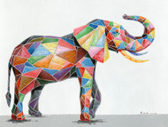 Painting - Elephant in Geo Symmetry  (G0249)