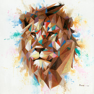 Painting - Lion in Geo Symmetry  (G0254)