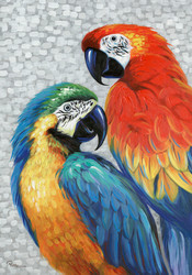 Painting - Two Parrots (G0421)