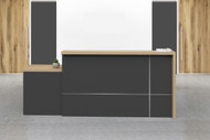 Brooklyn Reception Counter In Brown Oak (OZ-1921-18) - OUT OF STOCK