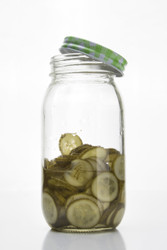 Glass Jar With Screw Top Lid 600ml