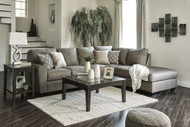 Calicho L Shaped Sofa Set in Cashmere Fabric