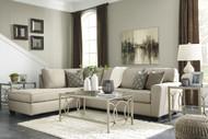 Calicho L Shaped Sofa Set in Ecru Fabric