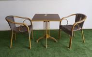 Cadiz Square Bistro Table In Dark Brown