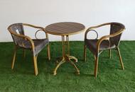 Cadiz Circular Bistro Table In Dark Brown
