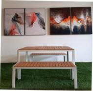 Muenchen Table & 2pcs Bench Set