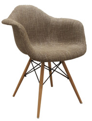Eames Replica Chair With Arms in Beige