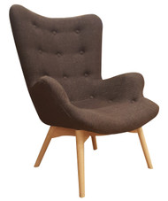 Grant Featherston Replica Lounge Chair in Brown