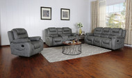 Athens Recliner 6 Seater Recliner in Gray