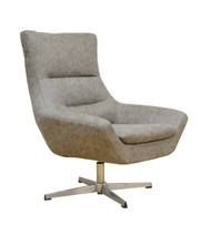 York Swivel Accent Chair in Gray