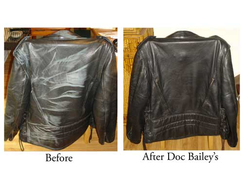 Before and after motorcycle jacket rejuventation!