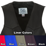 Available liner colors for the Build Your Own Classic Vest