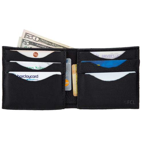 Hand Cut Soft Wallet Open View
