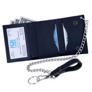 Mini Trucker Wallet with Chain - Window Pocket