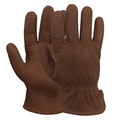 Pair view of our American Bison Leather Gloves.