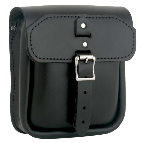 Front view of the Slimline Sissybar Bag shown in Black.