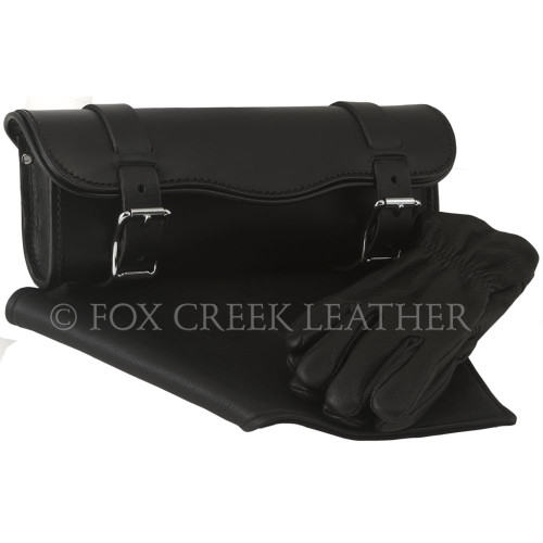 "Large Toolbag Gift Set features our Heavy Duty 12"" Tool Bag, Leather Bandanna, and Deluxe Lined Deerskin Gauntlets."