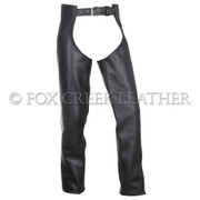 Leather Motorcycle Chaps - Size XXL (Clearance #62)