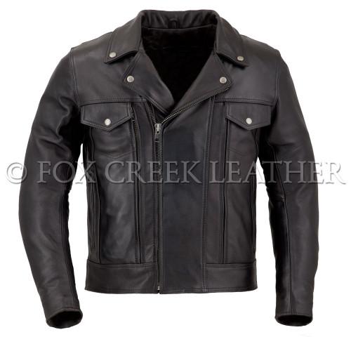 Men's Drifter Leather Motorcycle Jacket