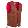 Side view of the american bison leather vest