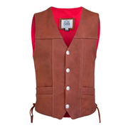 Front view of the Cheroot Buffalo Vintage Vest