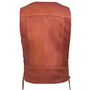This vest features a pieced back