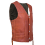 Side view of the Elkskin leather vest