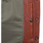Inside gun pocket on the left side snaps closed.
