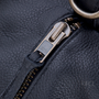 Detail view of the YKK zipper and hardware