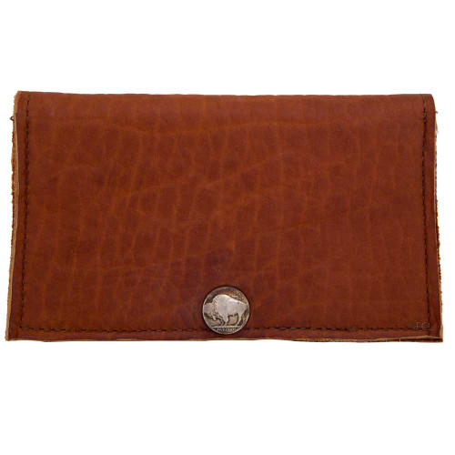 Front view of the Buffalo Tobacco Checkbook Wallet