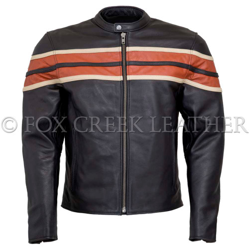 Men's Triple Striped Vented Racing Jacket