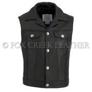 Men's Jean Biker Vest, Size 48 L (Clearance 27)