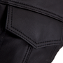 Detail picture of the front chest pocket with hidden snap closure