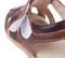 Boys Brown Genuine Leather Sandal velcro.