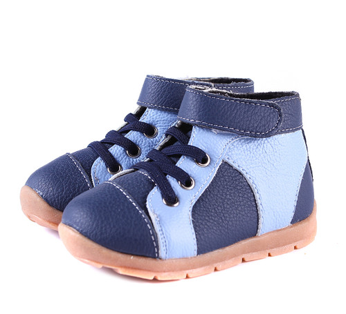 Boys Blue + Navy Leather Boots.
