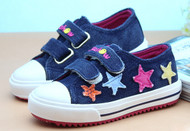 Navy Blue Canvas Shoe with Stars.