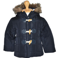 Navy Blue Puffer Jacket for girls aged 3 - 8