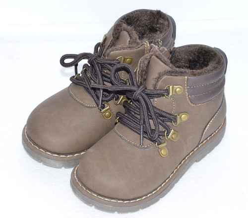Brown Khaki Boots for Young Boys.