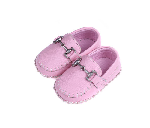 Baby Girls Moccasin - Pink Soft Sole Shoe.