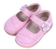 Toddler Girls Pink Leather Mary Jane Shoe.