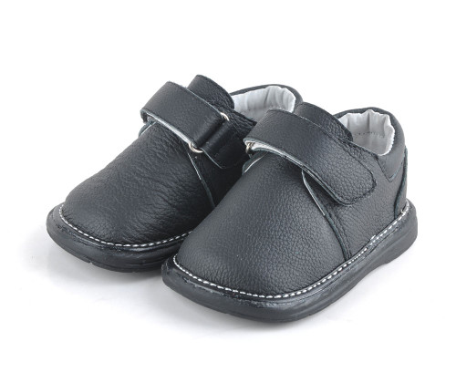 Toddler Boys Black Leather Shoe.