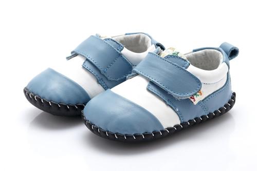 Baby Boy Light Blue Soft Soled Shoe.