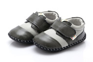 Baby Boy Grey Soft Soled Shoe.
