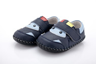 Baby Boys Dark Blue & Light Blue Soft Soled Shoe.