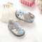 Baby Boys Sky Blue & White Soft Soled Sandal different angles.