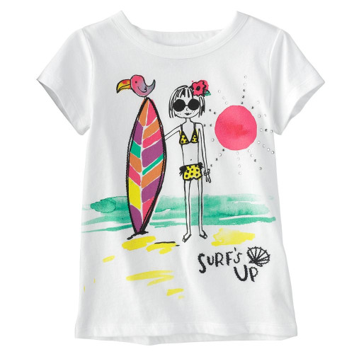 Girls 'Surfs Up' T Shirt
