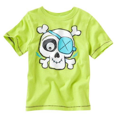 Boys Green Skull T Shirt